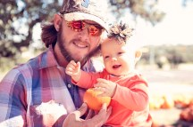 Daddy and Baby at Pumpkin Patch